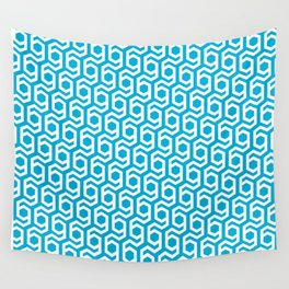 Modern Hive Geometric Repeat Pattern Wall Tapestry
