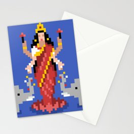 Hindu Goddess Lakshmi 8bit Avatar Stationery Cards