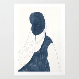 mysterious self-portrait Art Print