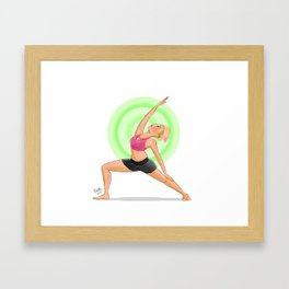 Reverse Warrior Framed Art Print