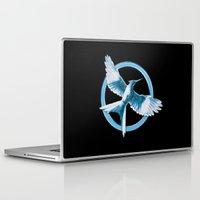 mockingjay Laptop & iPad Skins featuring Mockingjay by Diego Guzman