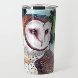 Barn Owl in Apple Tree Travel Mug