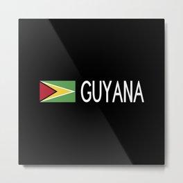 Guyanese Flag & Guyana Metal Print