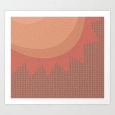 Texas Heat Art Print