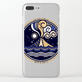 La Vita è Bella – Mediterranean Volcano in Tan Blue Palette Clear iPhone Case