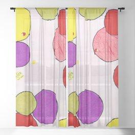 Circling around Sheer Curtain
