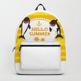 Hello Summer, Kawaii orca Backpack
