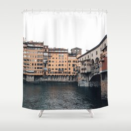 italian Architecture in Florence Shower Curtain
