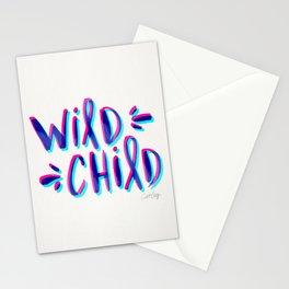 Wild Child – Magenta & Cyan Palette Stationery Cards