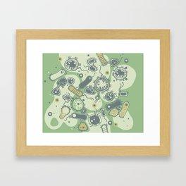 Eukaryote (green) Framed Art Print