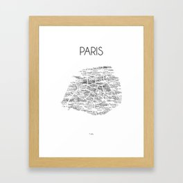 CityStations - Paris Métro. Minimalist map Framed Art Print