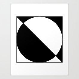 0 – Black Art Print