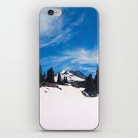 robin hood iPhone & iPod Skins featuring Mt. Hood by Leah Flores