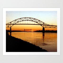 Cape Cod Bourne Bridge Art Print
