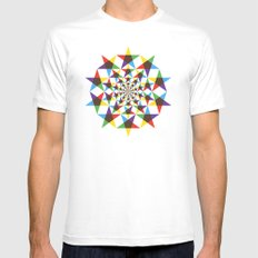 Star Space MEDIUM Mens Fitted Tee White