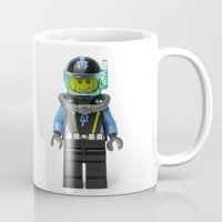 scuba Mugs featuring Another SCUBA Minifig by Jarod Pulo
