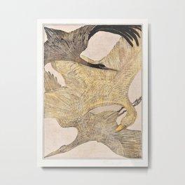 Theo van Hoytema - Drie vliegende vogels Metal Print