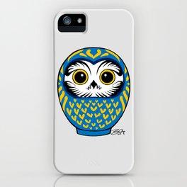 Blue Fukuro Daruma iPhone Case