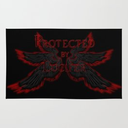 Protected by Lucifer Dark Rug