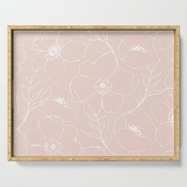 Floral Simplicity - Pink Serving Tray