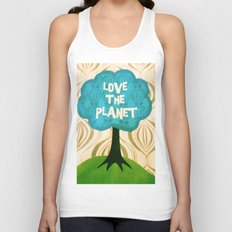 Love the planet Unisex Tank Top