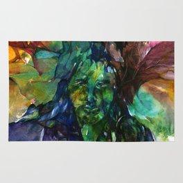 Green Man by Kathy Morton Stanion Rug