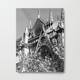 Blossoms, Spires and Gargoyles Metal Print