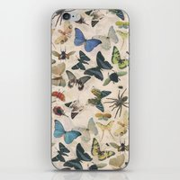 insect iPhone & iPod Skins featuring Insect Jungle by Galvanise The Dog