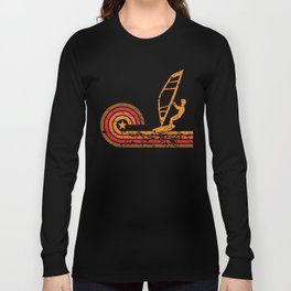 Retro Style Wind Surfer Vintage Wind Surfing Long Sleeve T-shirt