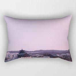 Pink Sky in Seoul Rectangular Pillow