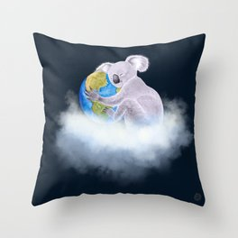 Koala in Heaven - Climate Change Awareness Throw Pillow
