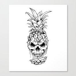 Skull Pineapple Fruit Canvas Print