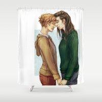 siren Shower Curtains featuring Fem!Siren by laya rose
