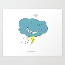 Ivan the angry cloud Art Print