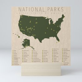US National Parks Mini Art Print