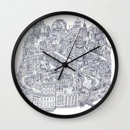 Two Channels b/w Wall Clock