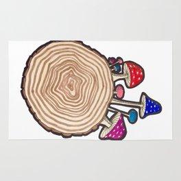 Mushrooms on a Log Rug