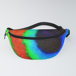 BLUE & GREEN PEACOCK EYE FEATHER ART Fanny Pack