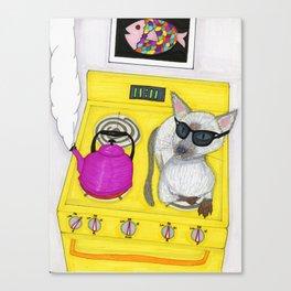 Blind Cat Canvas Print
