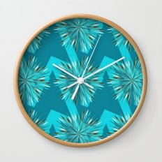 Arrow Bursts in Teal Wall Clock