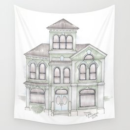 Green Italianate Victorian Wall Tapestry