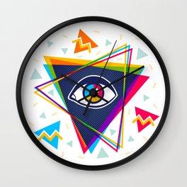 Pyramid with eye Wall Clock
