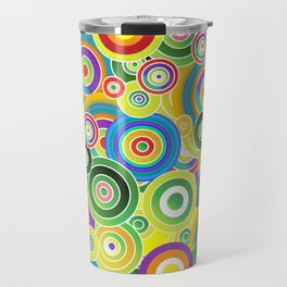 Psychedelic Circles #society6 #decor #buyart Travel Mug