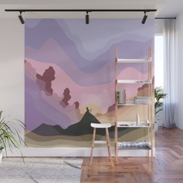 Adventure cat, exploring Catmanduh Wall Mural