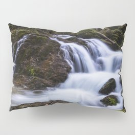 Magical waterfall in gorge Hell Pillow Sham