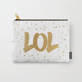 LOL- fun typography art print Carry-All Pouch