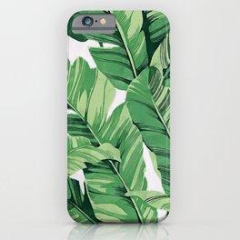 Tropical banana leaves V iPhone Case