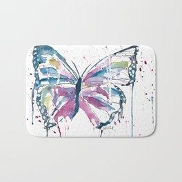 Vibrant Butterfly Bath Mat