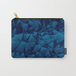 Modern Blues Quilted Pattern Carry-All Pouch