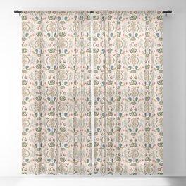 Squirrel Damask Sheer Curtain